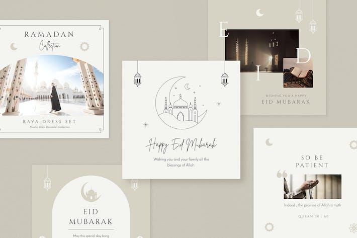 Eid Mubarak Social Media Pack