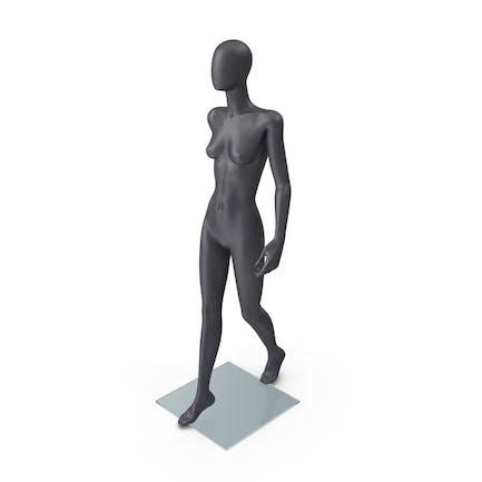 Dark Grey Female Mannequin Walking Pose
