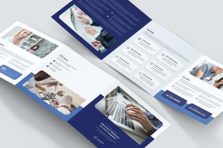 Thumbnail for Brochure – IT Services Tri-Fold Square
