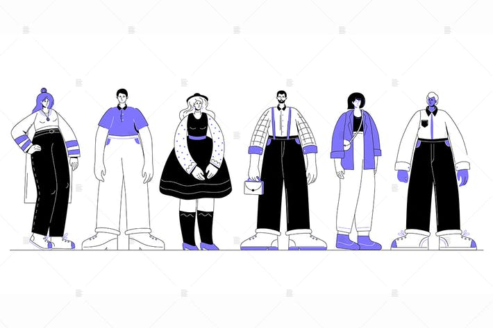 Thumbnail for Creative people - flat design style characters