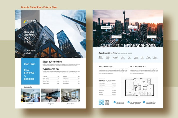 Thumbnail for Double Side Real Estate (Apartment Sale) Flyer v11