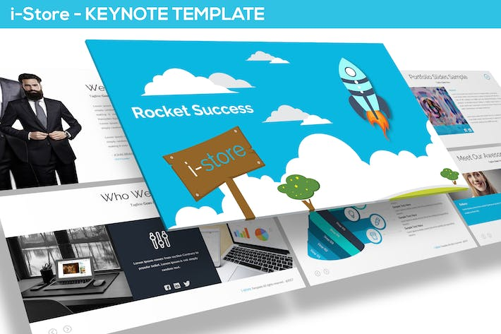 Thumbnail for i-Store - Keynote Template