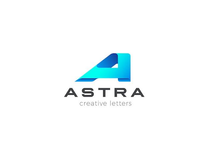 Letter A Logo design Technology Business