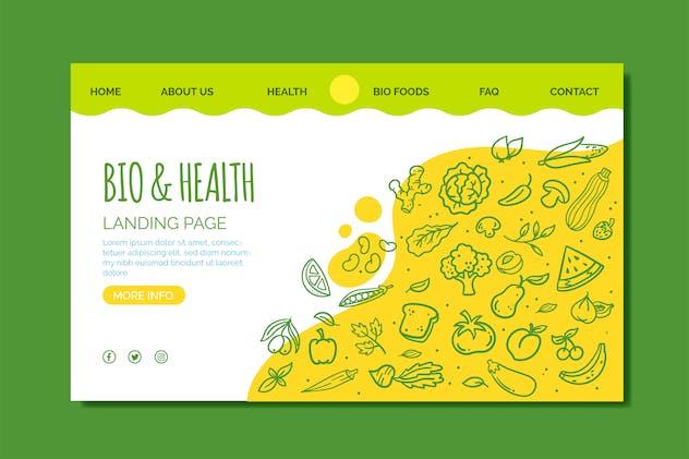 Bio Health Food Landing Page