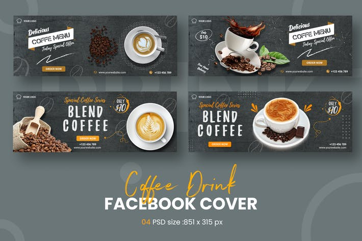 Coffee Drink Facebook Timeline Covers