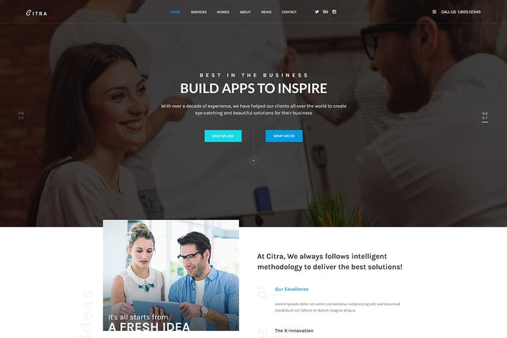 Thumbnail for CITRA - Business PSD Template