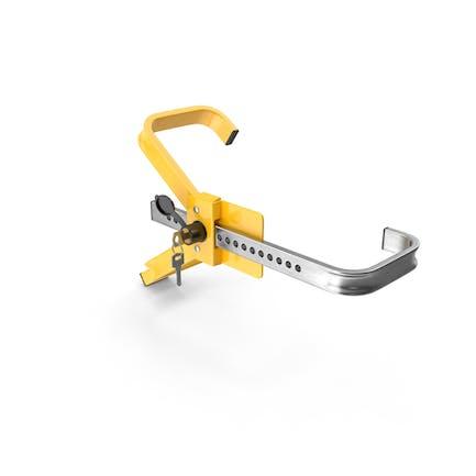 Abrazadera antirrobo de bloqueo de rueda con llaves
