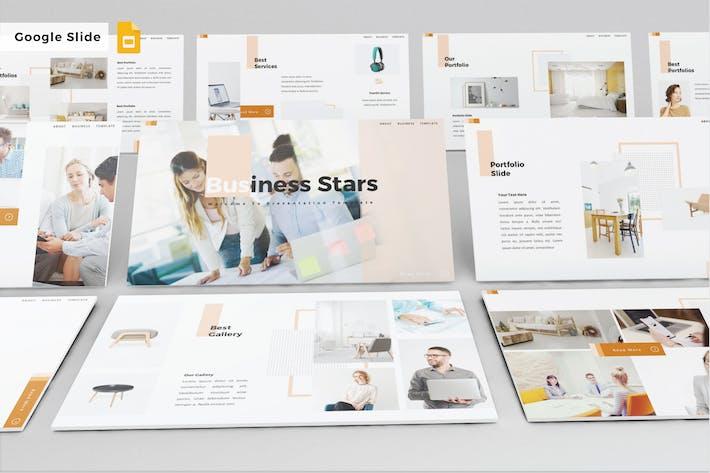 Thumbnail for BUSINESS STARS - Google Slide V504