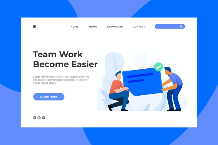 Thumbnail for Team Work Landing Page