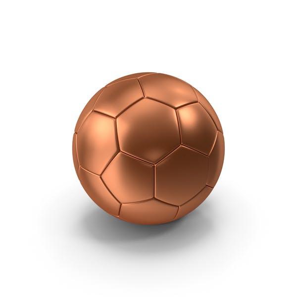 Бронзовый футбольный мяч