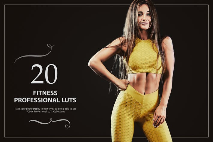 Thumbnail for 20 Fitness LUTs Pack