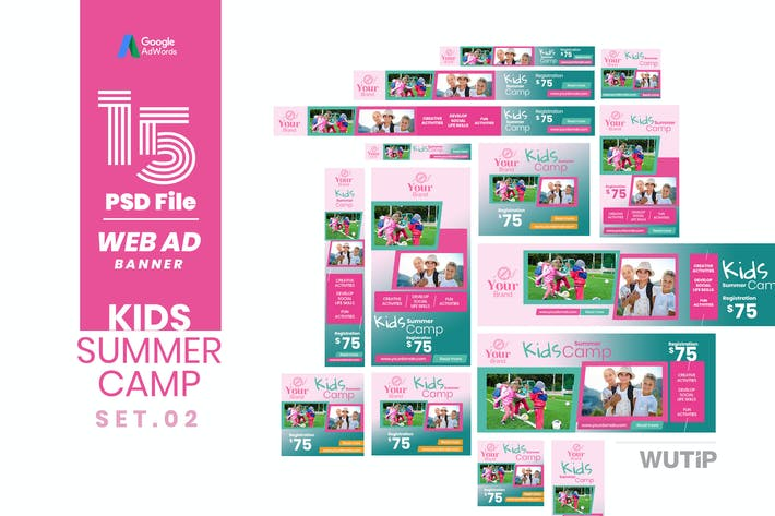 Thumbnail for Web Ad Banner-Kids Summer Camp 02