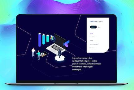 Hero Header Blockchain Isometric 5 AB