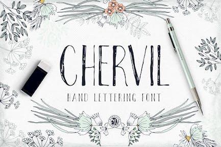 Червиль шрифт ручной надписи