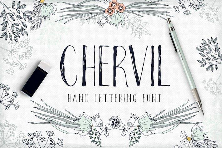 Thumbnail for Chervil hand lettering font