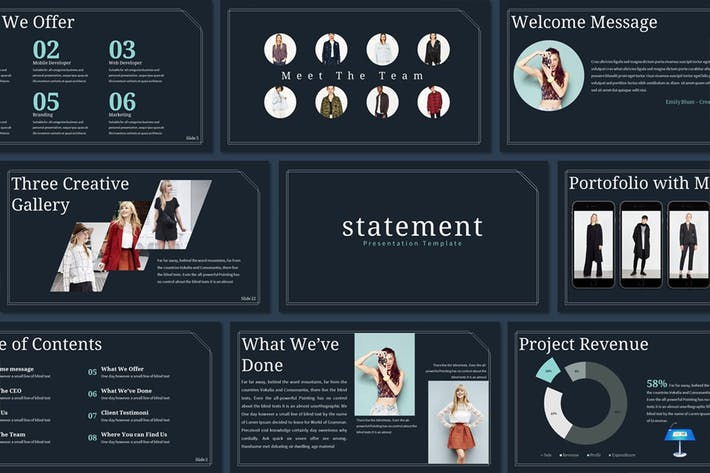 Thumbnail for Statement - Keynote Template