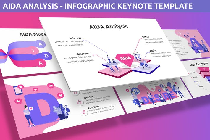 Thumbnail for AIDA Analysis - Infographic for Keynote