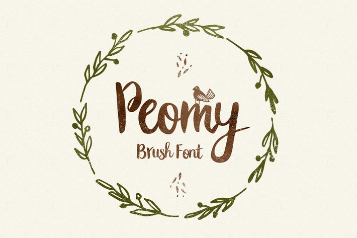 Thumbnail for Peomy Extended Font & Illustrations & Logos