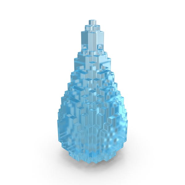Drop Liquid Voxelated
