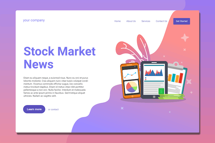 Thumbnail for Stock Market - Landing Page
