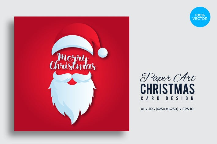 Thumbnail for Merry Christmas Square Vector Card Vol.2
