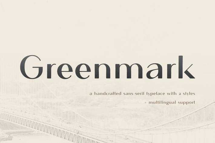 Thumbnail for Greenmark - Handcrafted Sans Serif