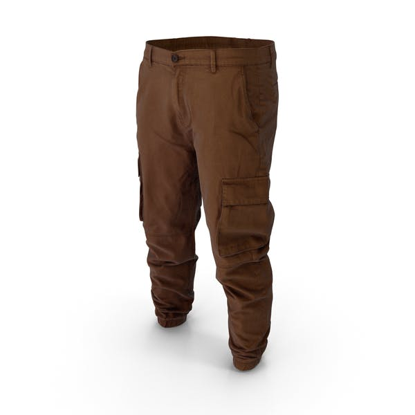 Thumbnail for Мужские коричневые брюки-карго