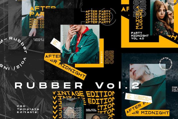 Thumbnail for Rubber Vol.2 - Social Media Kit Instagram + Story