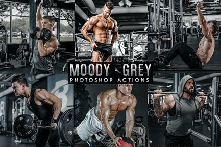Moody - Grey Photoshop Actions