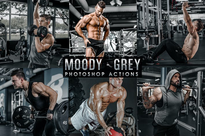 Thumbnail for Moody - Grey Photoshop Actions