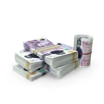 Kleiner Haufen britischer Pfund-Stacks
