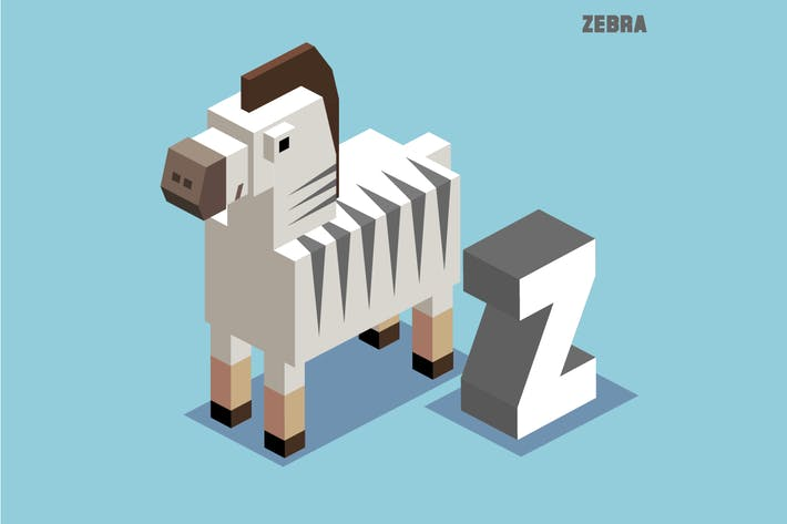 Thumbnail for Z for Zebra. Animal Alphabet