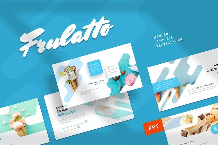 Thumbnail for Frulatto - Мороженое Powerpoint Шаблон