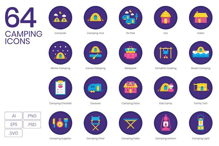 64 Campingflache Icons
