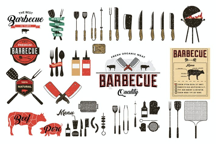 Thumbnail for Vintage Barbecue Elements
