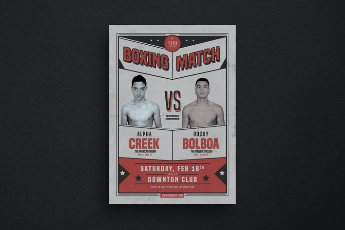 Thumbnail for Retro Boxing Match Flyer