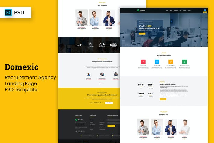 Cover Image For Recruitment Agency - Landing Page PSD Template