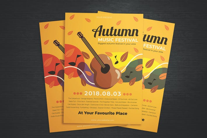 Thumbnail for Autumn Music Festival Flyer