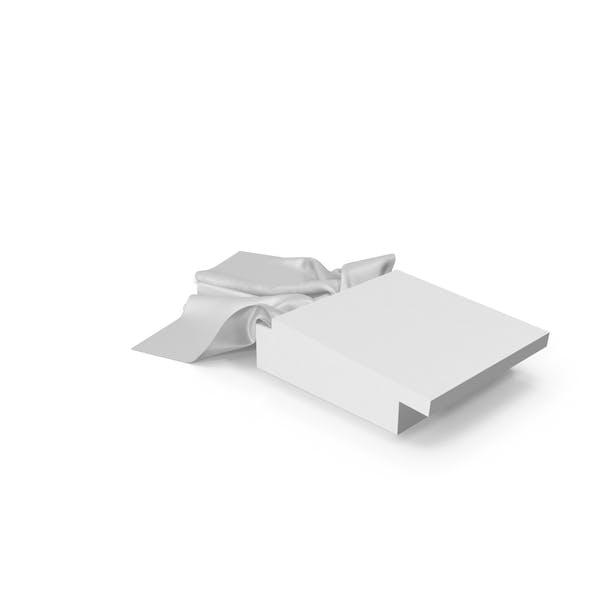 White Box with White Silk Scarf