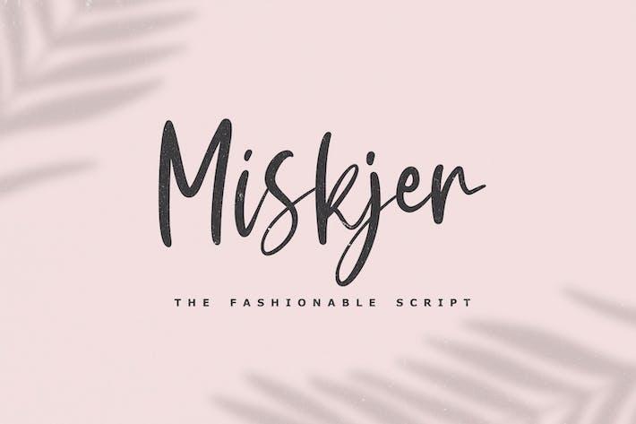 Miskjer - La police de script à la mode