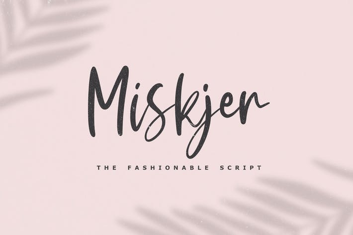 Thumbnail for Miskjer - The Fashionable Script Font