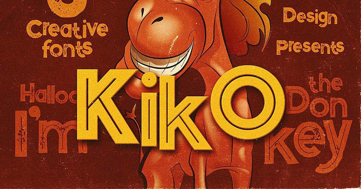 Kiko - Funny Display Font by cruzine