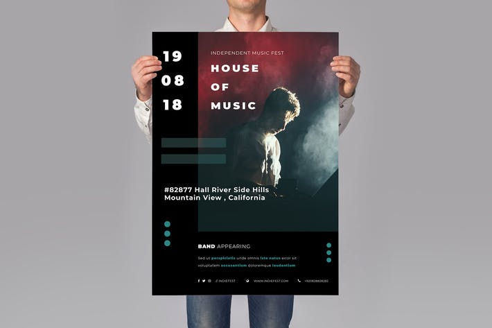 Cover Image For Music Flyer