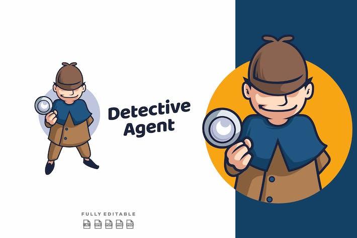 Detective Agent Mascot Logo