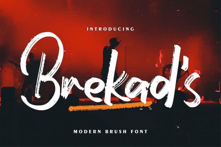 Thumbnail for Brekad's   Modern Brush Font