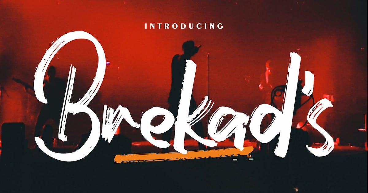Download Brekad's | Modern Brush Font by Vunira