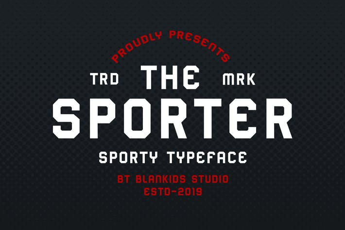 Sporter - Sporty Display Typeface