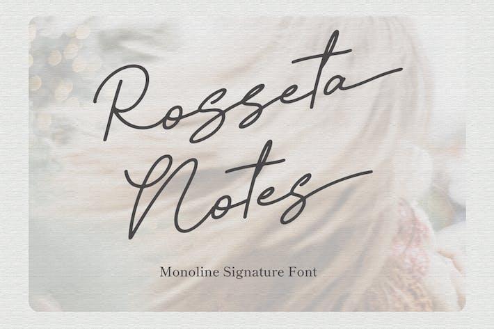 Rosseta Notes - Monoline Signature Font
