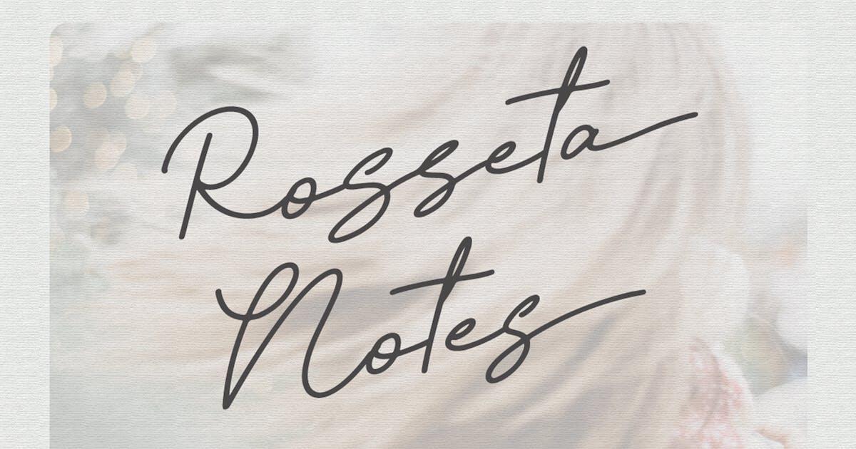 Download Rosseta Notes - Monoline Signature Font by Attype-Studio