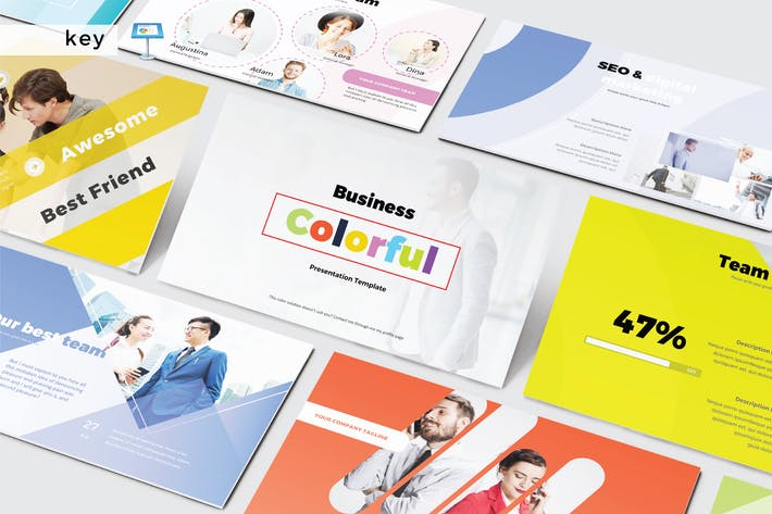 Thumbnail for BUSINESS COLORFUL - Keynote V430